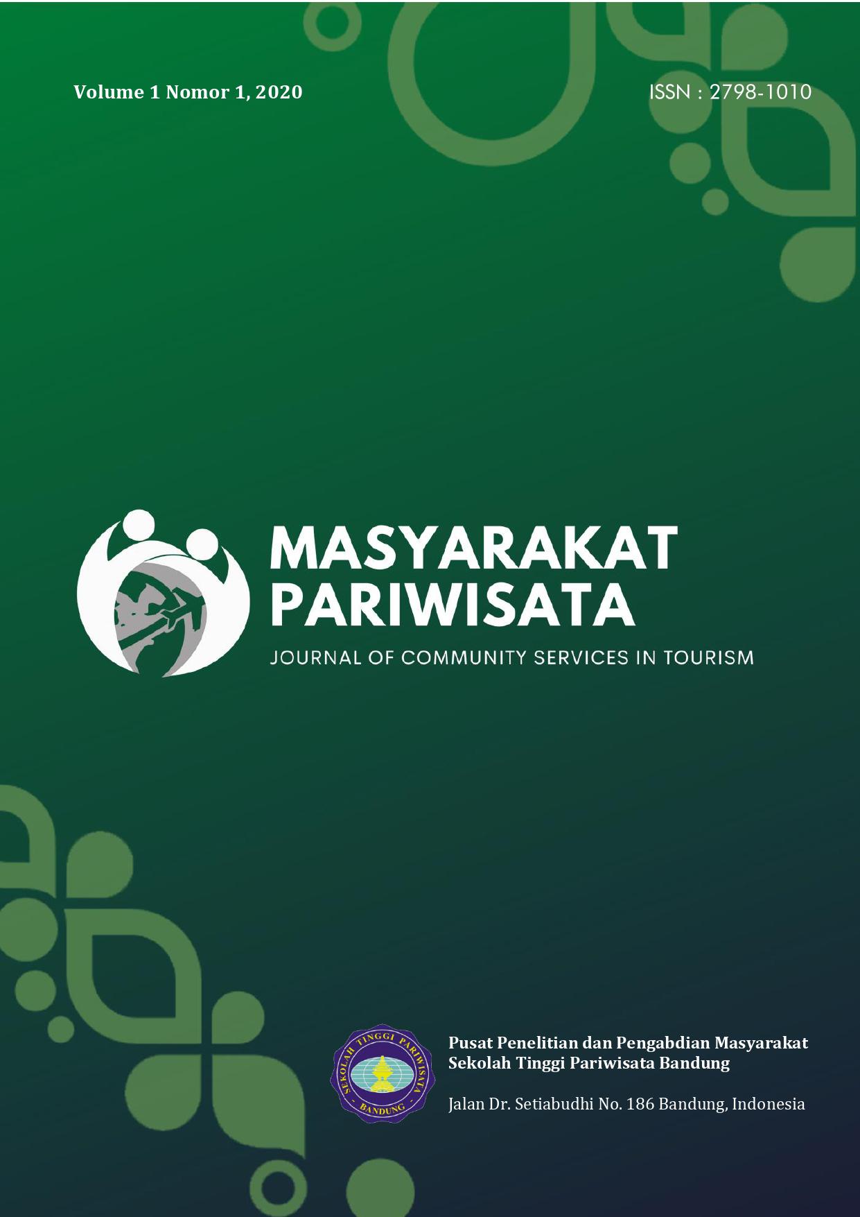 Masyarakat Pariwisata: Journal of Community Services in Tourism